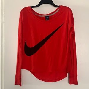 Women's Nike large long sleeve top
